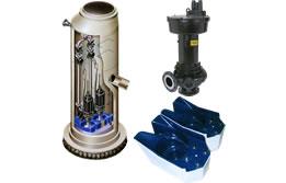汚物用水中ポンプ・汚物ポンプ・予旋回槽